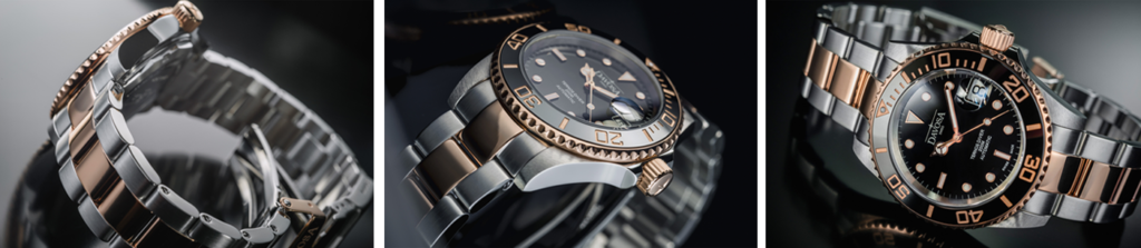 aa23b0dfa The new variant with rose colour partial PVD plating and a diameter of 40  millimeters are perfect for ladies' as well as gents' wrists.