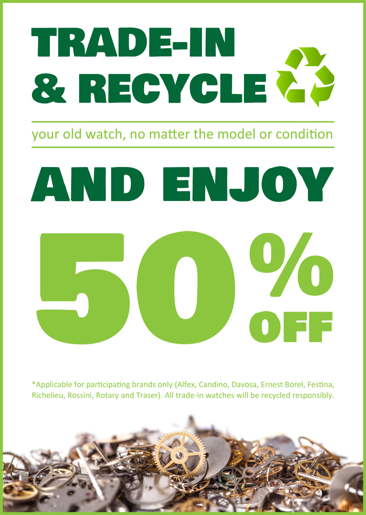 Trade in and recycle